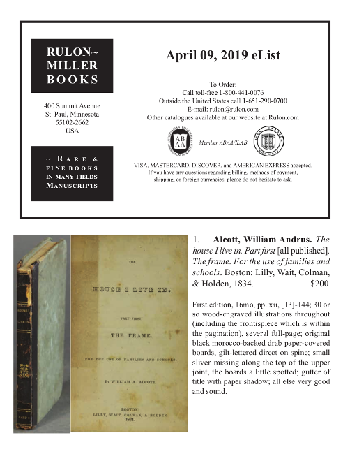 April 9, 2019 Recent Acquisitions