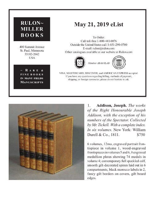 May 21, 2019 Recent Acquisitions