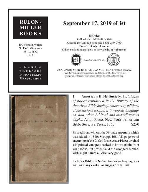 September 17, 2019 Recent Acquisitions