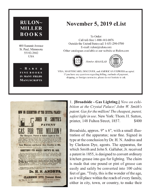 November 5, 2019 Recent Acquisitions