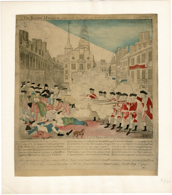 Paul Revere Bloody Massacre Perpetrated In King Street Boston On March 5th Ebay