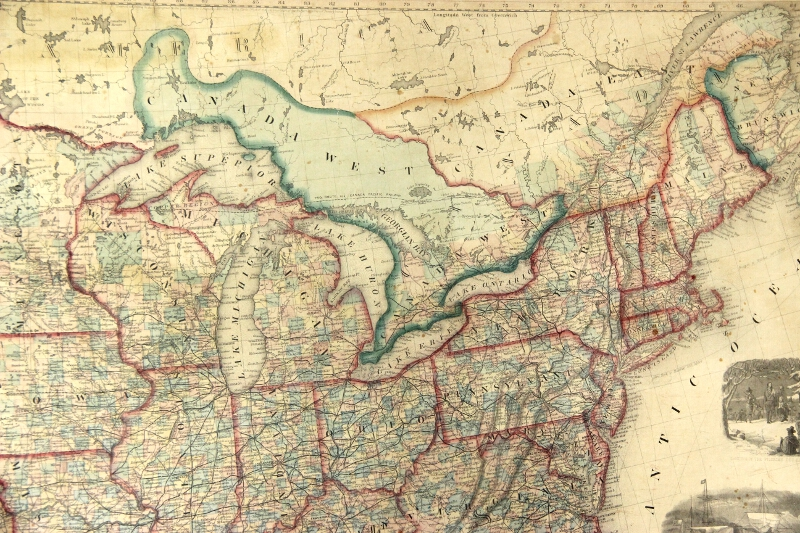 Mitchells new national map exhibiting the United States with