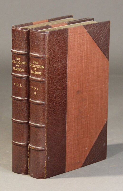 The colloquies of Erasmus. Translated by N. Bailey. Edited and with notes by the Rev. E. Johnson, M.A. ERASMUS.