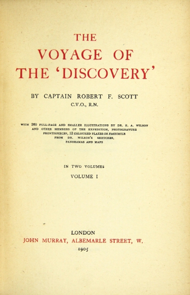 The Voyage of the 'Discovery.'. Capt. ROBERT F. SCOTT.