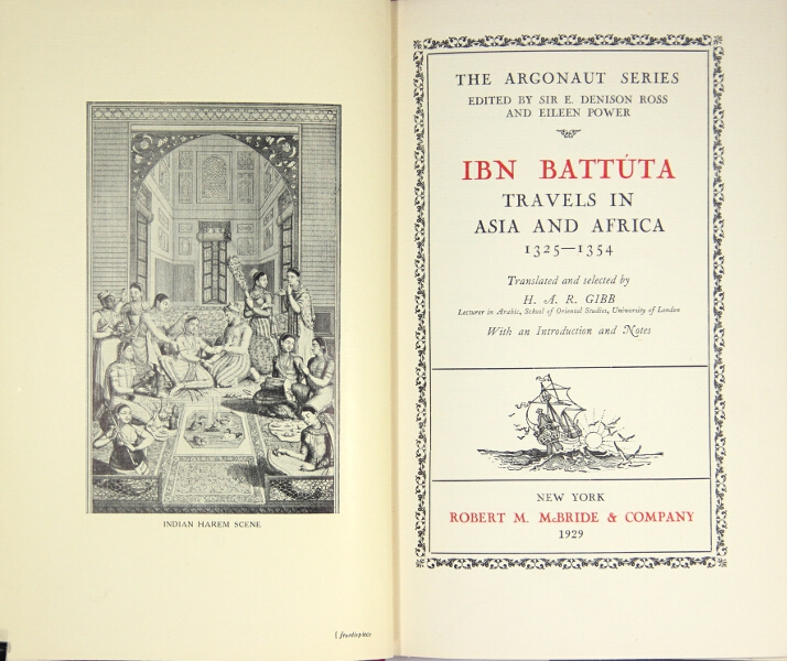 Travels in Asia and Africa 1325-1354. Ibn Battúta.