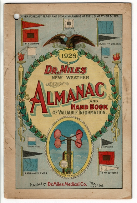 Dr. Miles new weather almanac and hand book of valuable information 1928