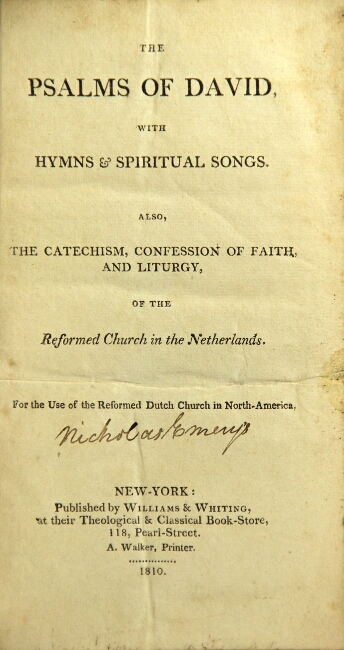 The Psalms Of David With Spiritual Songs Also The Catechism