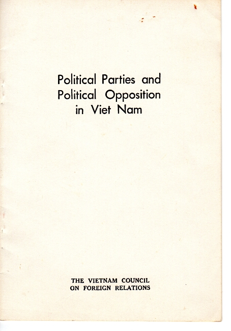 Political parties and political opposition in Viet Nam
