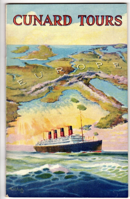 Cunard tours [cover title]. Cunard, Anchor Lines.