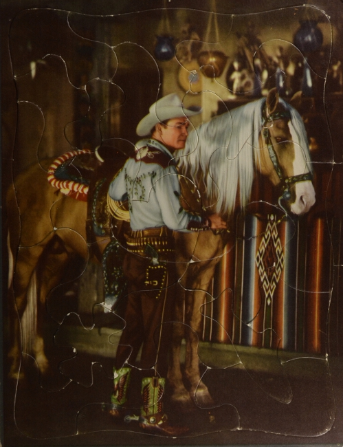 Jigsaw puzzle depicting Roy Rogers
