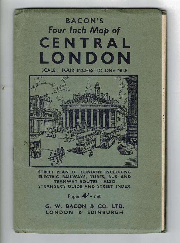 Bacon's four inch map of Central London
