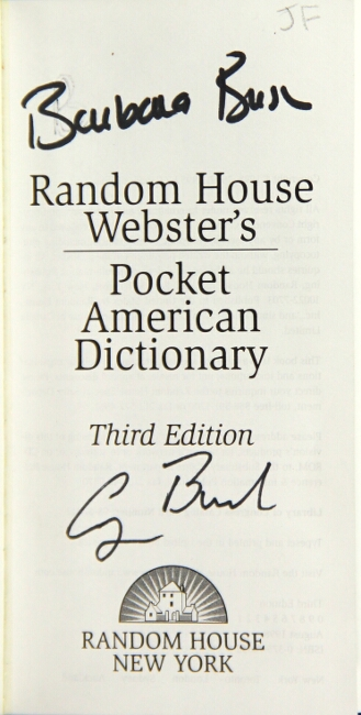 Random House Webster's pocket American dictionary. Third edition. Webster, Noah.