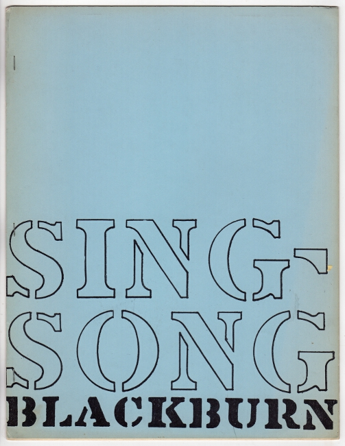 Sing-song. Caterpillar IV. Paul Blackburn.