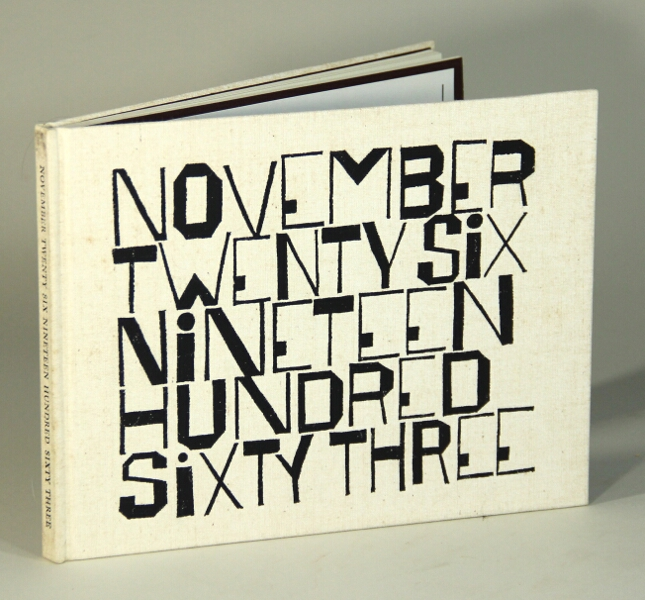 November twenty-six nineteen hundred sixty three. Wendell Berry, Ben Shahn.