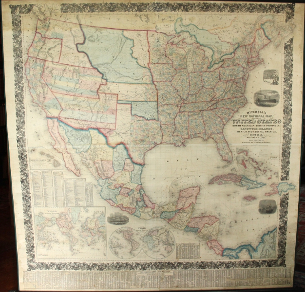 Mitchells New National Map Exhibiting The United States With - Map of united provinces india