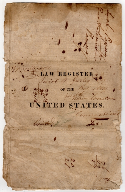 N. Jersey, Burlington, Nov. 23, 1822. Annual, Law Register of the United States. Vols. 3d. & 4th. for 1821,2. The editor informs the publick, that two volumes of this annual work, will soon be published. William Griffith.