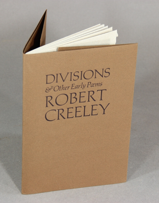 Divisions & other early poems. Robert Creeley.