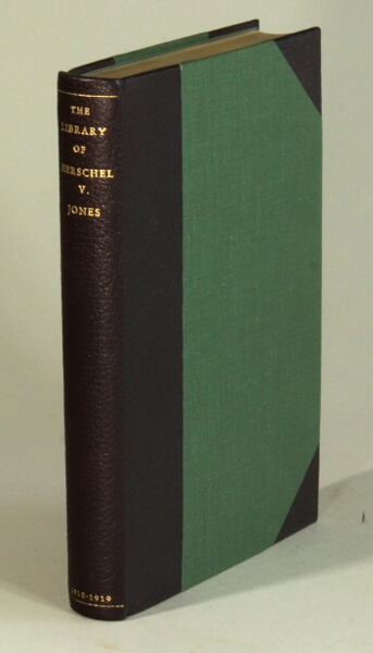 Catalogue of the library of Herschel V. Jones. Herschel V. Jones.