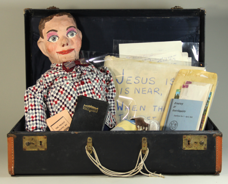 The archive of a Christian ventriloquist. Katheryn Rea.