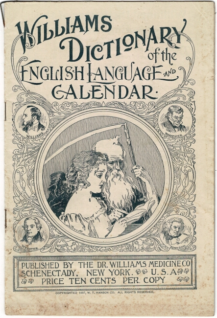 Williams dictionary of the English language and calendar