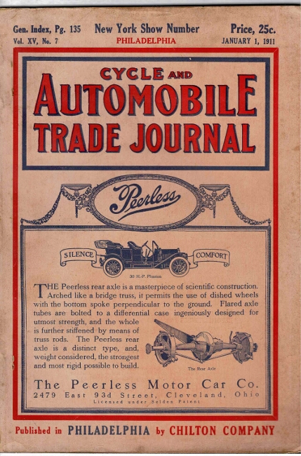 Cycle and automotive trade journal, volume XV, no. 7. James Artman.