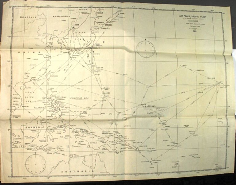 [Map of the Pacific Theatre] = Air Force, Pacific fleet. Do not use for navigational purposes. Restricted. Table chart number 3 (revised)