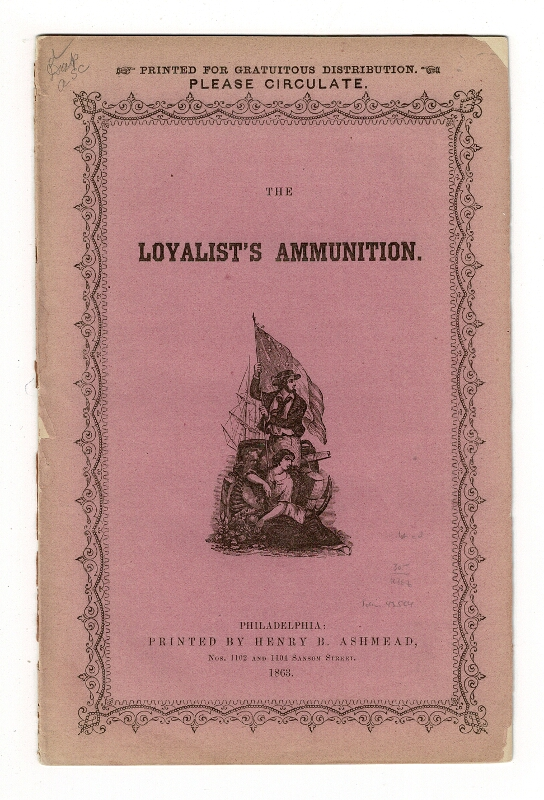 The loyalist's ammunition [cover title]. Speech of a brave old patriot. A voice from the Army. On foreign interference. Isaac Funk.