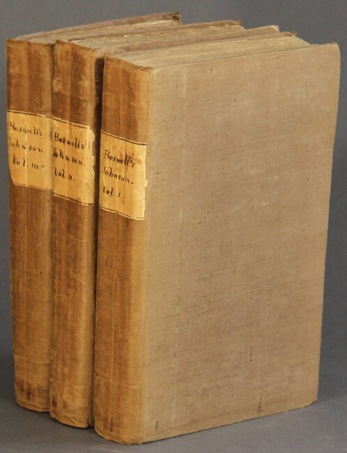The life of Samuel Johnson, LL.D. comprehending an account of his studies. James Boswell.
