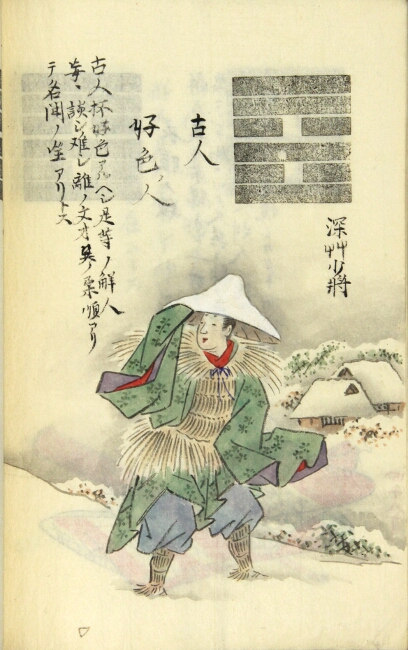 [Japanese manuscript visual dictionary of I Ching imagery]