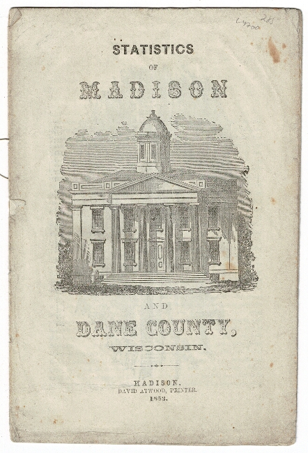 Statistics of Madison and Dane County, Wisconsin