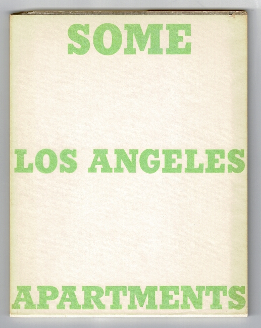 Some Los Angeles apartments. Edward Ruscha.