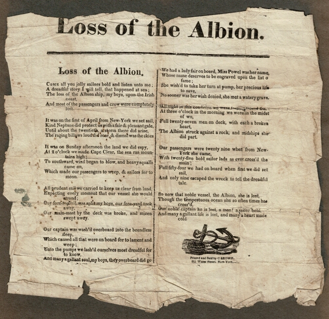 Loss of the Albion