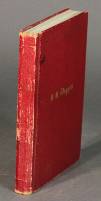 [Title in neat red and black calligraphy:] Autographs. S. B. Doggett.
