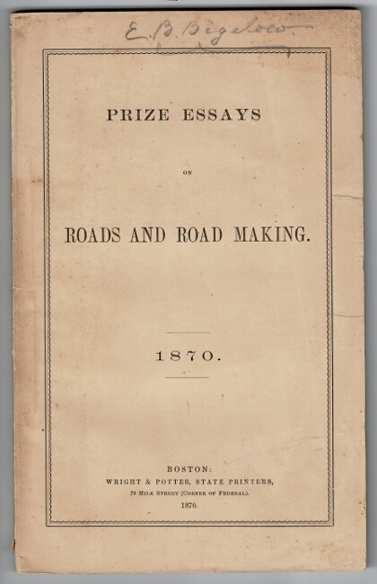 Prize essays on roads and road making. Clemens Herschel.