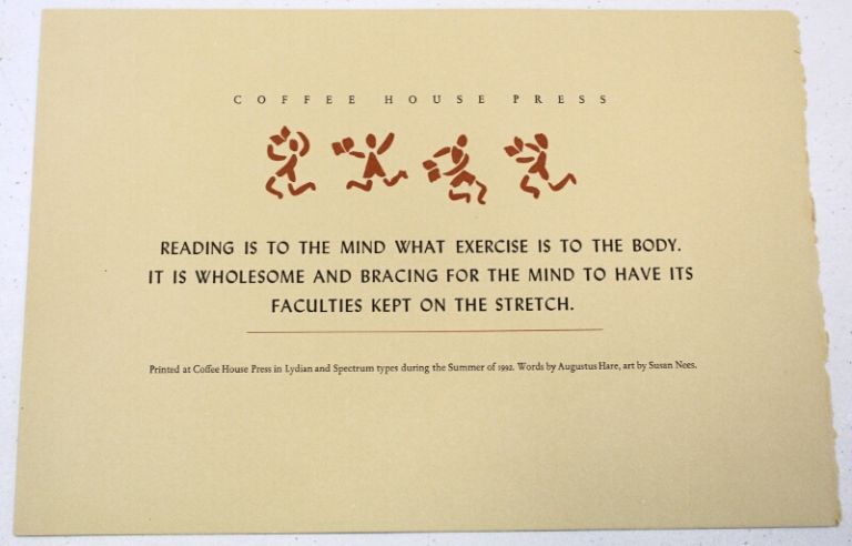 Reading is to the mind. Augustus Hare.