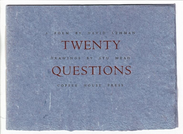 Twenty questions. David Lehman.