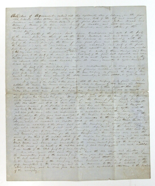 Articles of Agreement