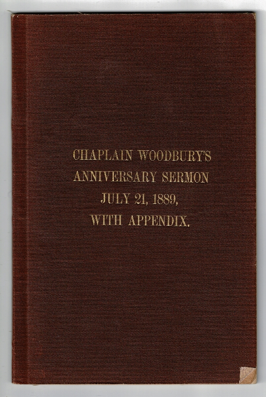 The memory of the first battle: a discourse preached in Westminster Church, Providence, R.I., on the 28th anniversary of the Battle of Bull Run, July 21, 1889, before the veteran associations of the First and Second Rhode Island Regiments and their batteries. Augustus Woodbury.