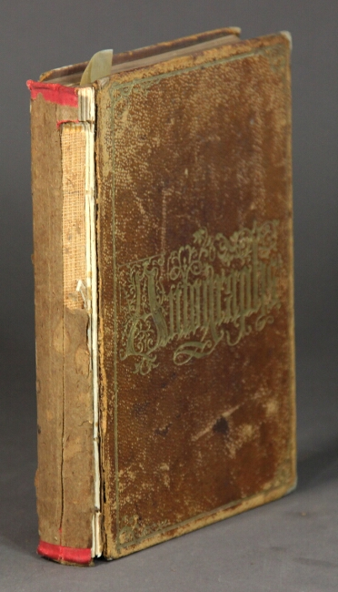 Autograph book containing approximately 68 autographs, among whom John Greenleaf Whittier, evidently collected by a student at the Friends' Boarding School in Providence, R.I., now Moses Brown