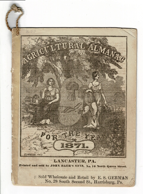 Agricultural almanac for the year 1871