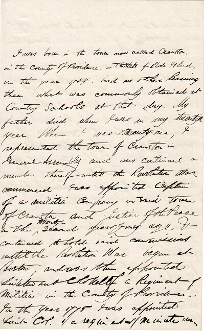 "Six-page autograph manuscript, signed ""CL"" being an autobiographical sketch. Christopher Lippitt."