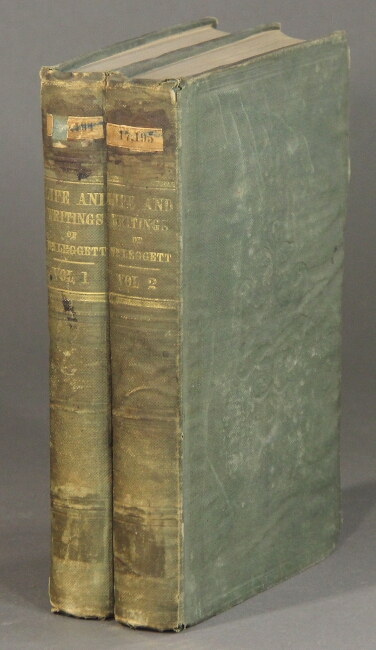 A collection of the political writings ... selected and arranged, with a preface, by Theodore Sedgwick, Jr. In two volumes. William Leggett.