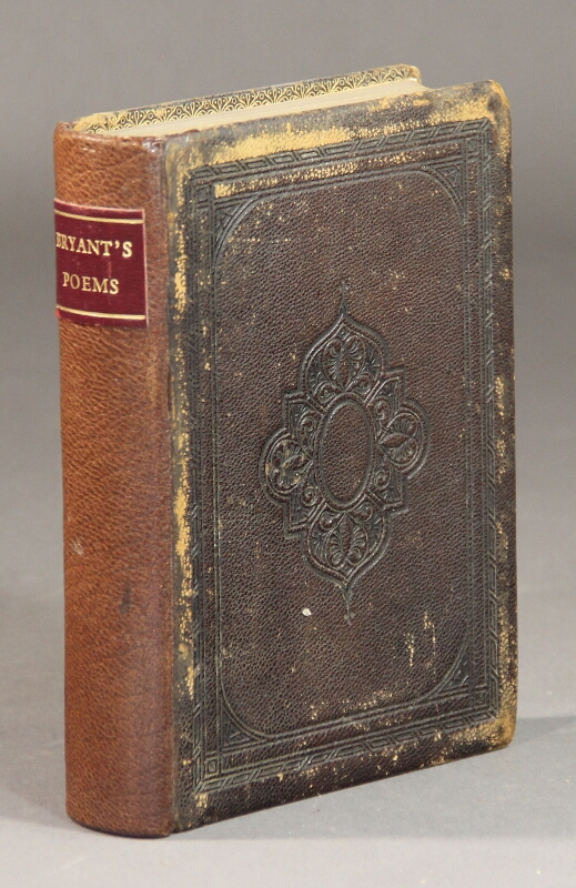 Poems ... collected and arranged by the author. William Cullen Bryant.