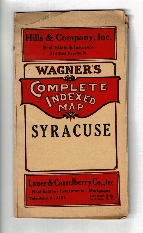 Wagner's complete indexed map of Syracuse and suburbs