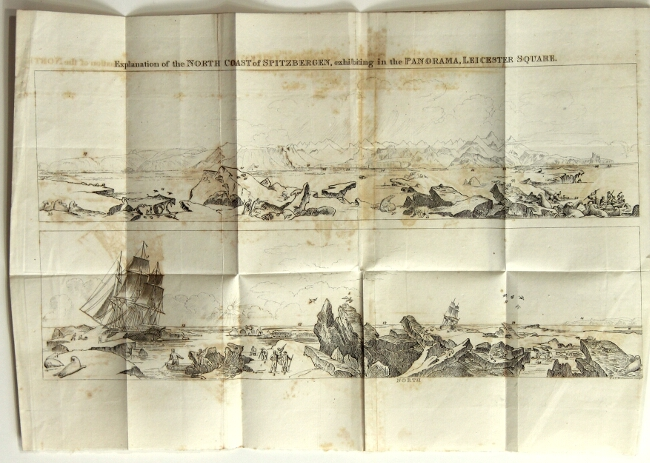 Description of a view of the north coast of Spitzbergen, now exhibiting in the large rotunda of Henry Aston Barker's Panorama, Leicester-Square; painted from drawings taken by Lieut. Beechey, who accompanied the Polar Expedition in 1818, and liberally presented them to the proprietor. A view of Lausanne, and the lake of Geneva is also exhibiting. Frederick William Beechey.