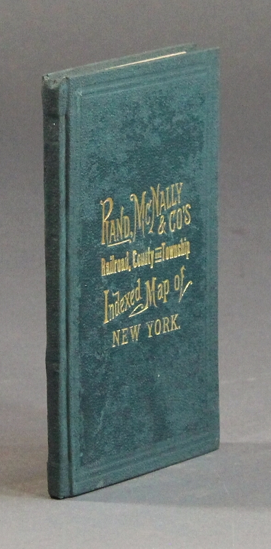 Rand, McNally & Co.'s indexed county and township map of New York with a new and original compilation and index designating all post office towns and railroad stations and giving full postal directions...
