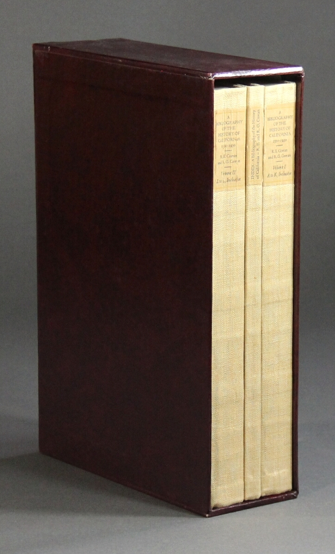 A bibliography of the history of California and the Pacific West 1510-1930. Robert Ernest Cowan, Robert G. Cowan.