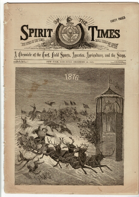 Spirit of the Times. A chronicle of the turf, field sports, aquatics, agriculture, and the stage. Vol. 92, no. 20. Wilkie Collins.