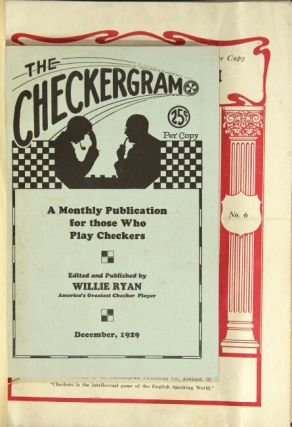 The Checkergram. Vol. I, no. 1 to Vol. 2 no. 9 [all published]. Willie Ryan, ed