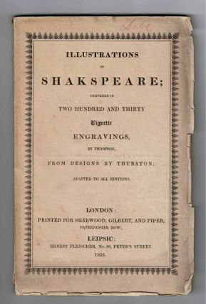 Illustrations of Shakespeare; comprised in two hundred and thirty vignette engravings, by...